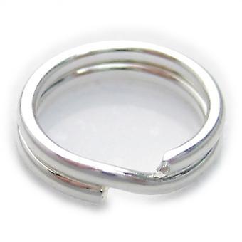 1 X 6mm Split Ring Sterling Zilver .925 Charm Sleutelhangers Ringen - 6008