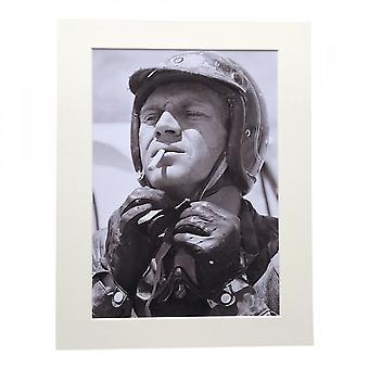 Larrini Mcqueen Smoking A4 Mounted Photo