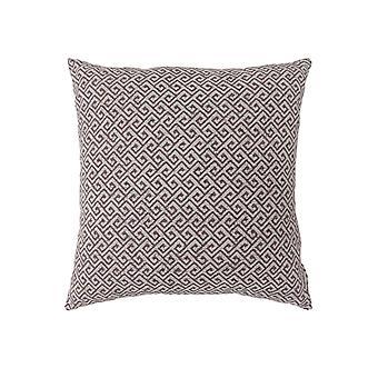 Zeitgenössischer Stil kleine Diagonal gemusterte Set von 2 Werfen Kissen, braun Bm178006