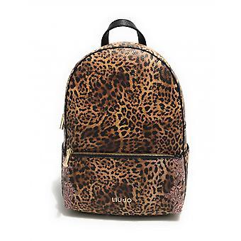 Backpack Liu-jo Backpack Backpack In Ecopelle Leopard Woman Bs21lj18 Aa1194