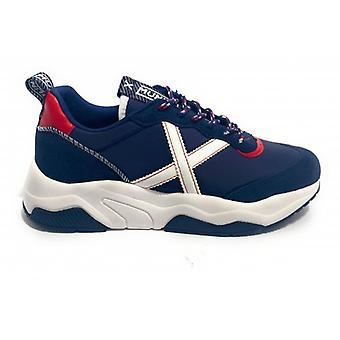 Scarpe Munich Sneaker Running Wave 33 Suede/ Tessuto Blu Navy Unisex U21mu05