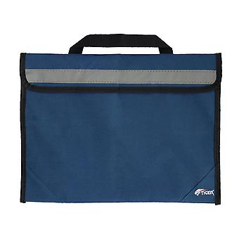 Tiger msa63 sheet music bag - school book bag with reflective strip - blue