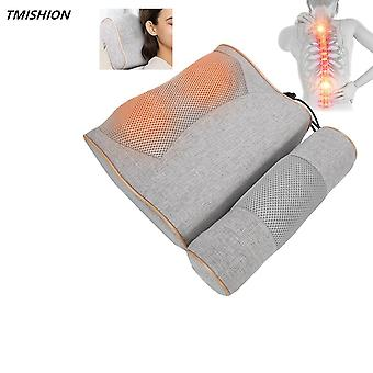 24W masaje cuello almohada herramienta de cuidado del cuerpo amasando + compresa caliente ayudan a relajar la presión para el cuello / espalda / muslo / pantorrilla / dolor de la suela