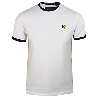 Campainha branco Lyle & scott masculina t-shirt