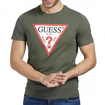Indovina logo originale Girocollo Verde Oliva T-Shirt M1RI71I3Z11