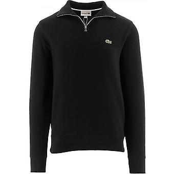 Lacoste Men's Zippered Stand-Up Collar Cotton Moletom