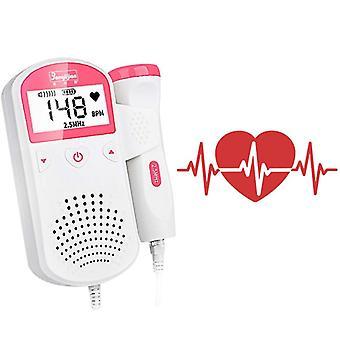 Prenosný fetálny doppler prenatálny detektor srdcovej frekvencie bábätka tehotné ženy merač srdcovej frekvencie žiadny radiačný stetoskop doppler plodu
