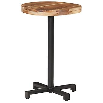 Bistro Table Round 脴50x75 Cm Solid Acacia Wood