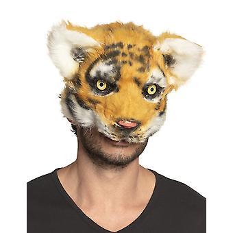 Volwassen pluche tijgermasker