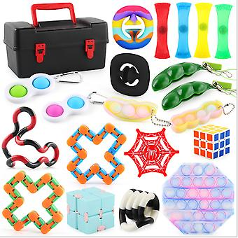 Fidget Toys Sensory Set Bundle Stress Relief Balls With Storage Box