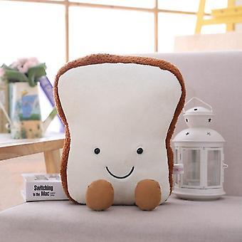 Creative Cartoon Plush Bread Shape Food Nap Pillow