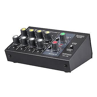Ultra-kompakte Low-Noise 8 Kanäle Metall Mono-Stereo-Audio-Sound-Mixer mit Netzteilkabel