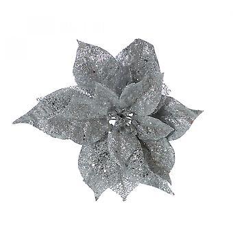 Christmas Shop Glitter Clip-On Poinsettia