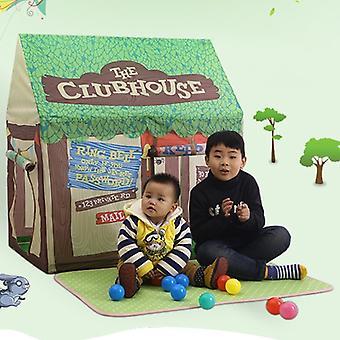 الأطفال المنزلية الطباعة لعب خيمة صغيرة لعبة البيت مع حصيرة (الأخضر)