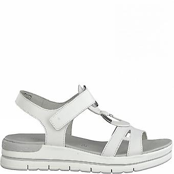 White Casual Flat Sandals