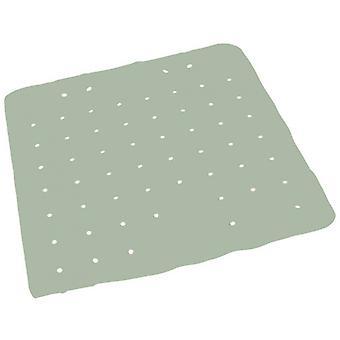 bath mat 54 x 54 cm rubber dark green