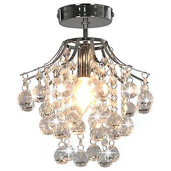 lampa sufitowa vidaXL z kryształowymi koralikami srebrno-okrągła E14