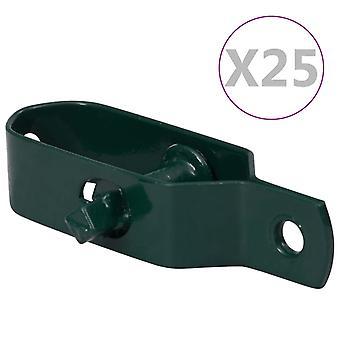 vidaXL Fence Wire Clamp 25 pcs. 100 mm Steel Green
