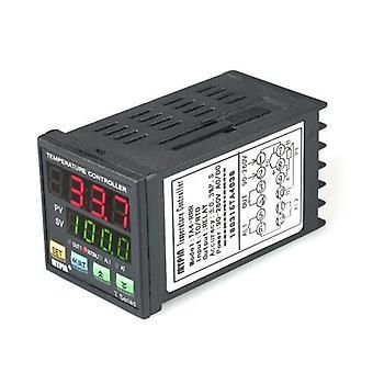 Automaattinen digitaalinen LED PID Lämpötilan säädin Lämpömittari RRR 2 Hälytysrele Lähtö TC/RTD Tulo