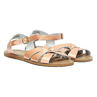 Salt Water Womens Rose Gold Original Sandals