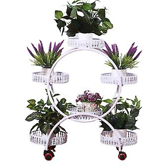 Plant stand with universal wheels