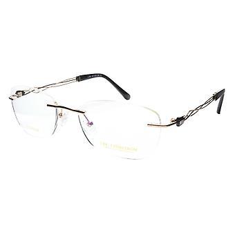 LINDSTROM L-106 C1 Eyeglasses Frame Titanium Gold Black Italy Made 53-19-140, 36