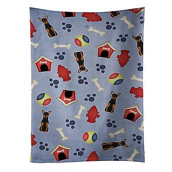"""""""Caroline es Treasures Bb2641Ktwl Dog House Manchester Terrier Küchentuch, 25 """"X 15"""", Multicolor"""""""