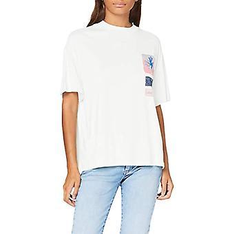 Lee Oversized Tee T-Shirt, Beige (Ecru NQ), S Donna