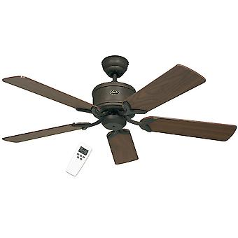 DC ceiling fan Eco Elements Antique Brown with remote