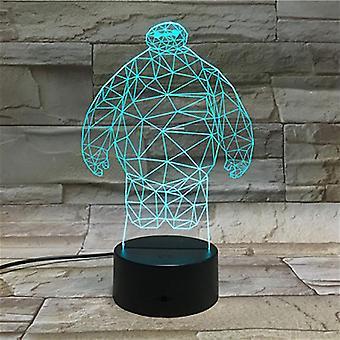 Baymax 3d Led Nachtlicht Schlafzimmer Tischlampe Farbe ändern