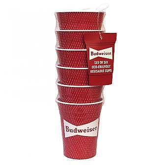 Budweiser Eco-Vriendelijke Herbruikbare 6-Pack plastic bekers