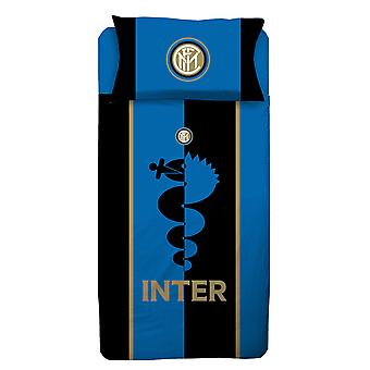 Inter Milan Eenpersoons dekbedovertrek en kussensloop set - Europese maat