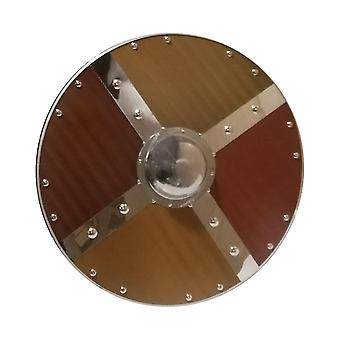 Wooden/metal Medieval Polished Viking Shield SWE72
