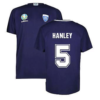 Scotland 2021 Polyester T-Shirt (Navy) (Hanley 5)