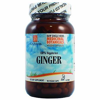 L. A .Naturals Ginger Raw Herb, 90 Veg Caps