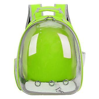 Cat Carrier Backpack,Space Capsule Knapsack Pet Travel Bag Waterproof Breathable(Green)