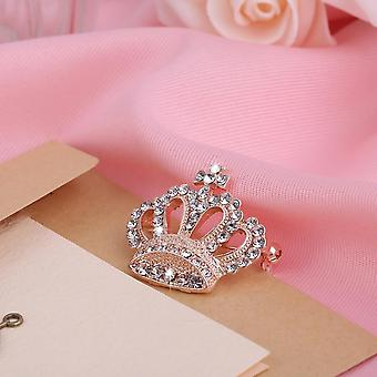 Exquisite Charming Crown Shape Woman Brooches Pins Wedding Collar Brooch