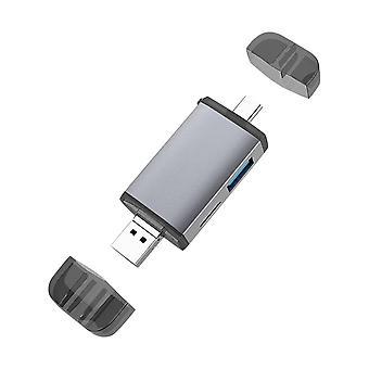 Kortinlukija Micro USB 2.0 Type C to SD Micro SD TF Adapter Tarvikkeet OTG Cardreader Smart Memory