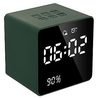 Mini music clock bluetooth speaker(Green)