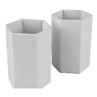 10 soportes de la olla de la tarjeta blanca para decorar - 9cm - Papier Mache Shapes