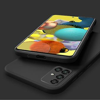 My choice Samsung Galaxy S10 Plus Square Silicone Case - Soft Matte Case Liquid Cover Black