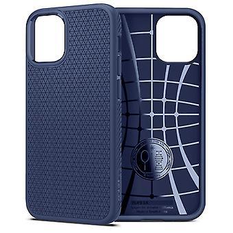 Case Apple iPhone 12 Mini Air Cushion Liquid Air Spigen Technology Dark Blue