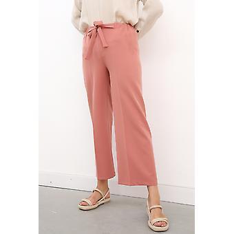 Self Belted Wide Leg Comfy Pants