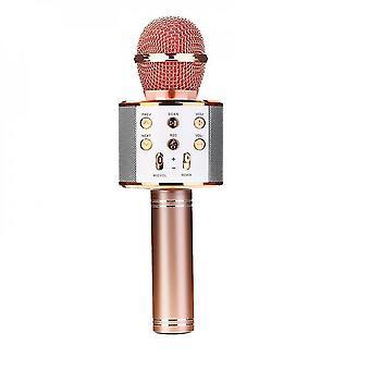 Wireless Karaoke Microphone For Kids(Rose Gold)