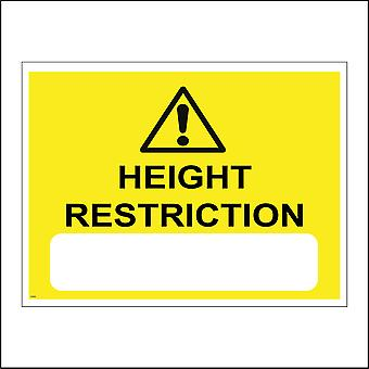 WS468 Height Restriction Sign with Triangle Exclamation Mark