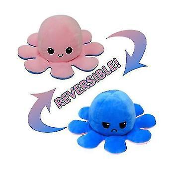 الوجه الأخطبوط دمية مزدوجة الجانب الوجه دمية الأخطبوط أفخم لعبة (الوردي الأزرق)