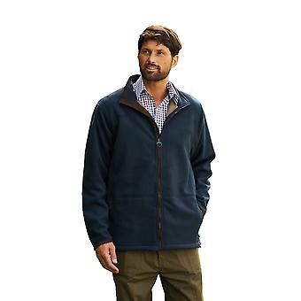 Champion Mens Berwick Fleece Jacket With Faux Suede Trim S Navy Blue