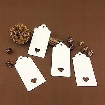 Christmas Gift Tags 200. Kraft Paper Gift Tag Of 4.5 Cm * 9.5 Cm And Yellow String Label Of 30 M (brown)