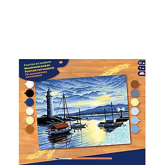 KSG KSG - Senior Painting by Numbers Harbour Sunrise