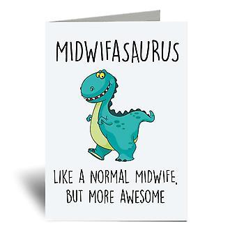 Midwifasaurus A6 Greeting Card